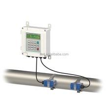 Portable water ultrasonic flow meter with clamp connection