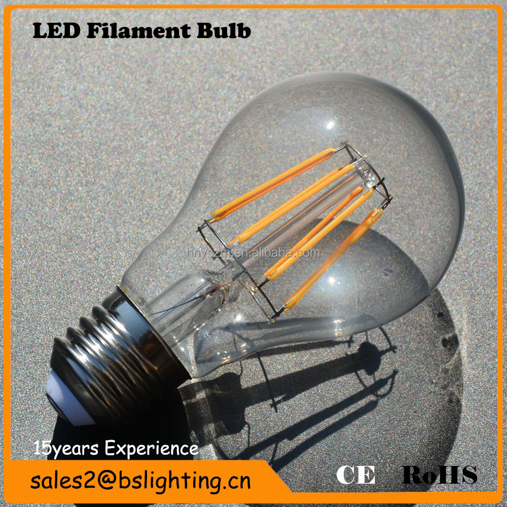 Energy Saving Led Edison Bulb Made in China ,Dimmable A60 E27 Led clear Bulb