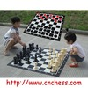 2 IN 1 GIANT GARDEN CHESS&CHCKERS(DRAUGHTS) SET
