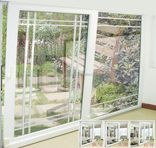 UPVC tilt and sliding door with five cavities frame and tempered glass