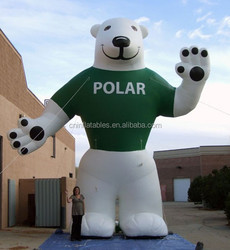 Low price superior quality giant white inflatable polar bear