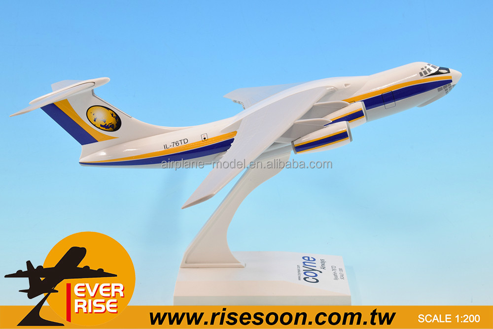 Ilyushin Il-76TD Coyne air Scale 1:200 Cargo aircraft model