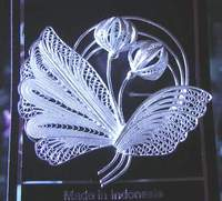 Silver Filigree Brooches