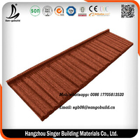 Sangobuild Linyi Stone Coated Steel Roofing Tile/Roofing Sheet/Metal Roof Tile Price