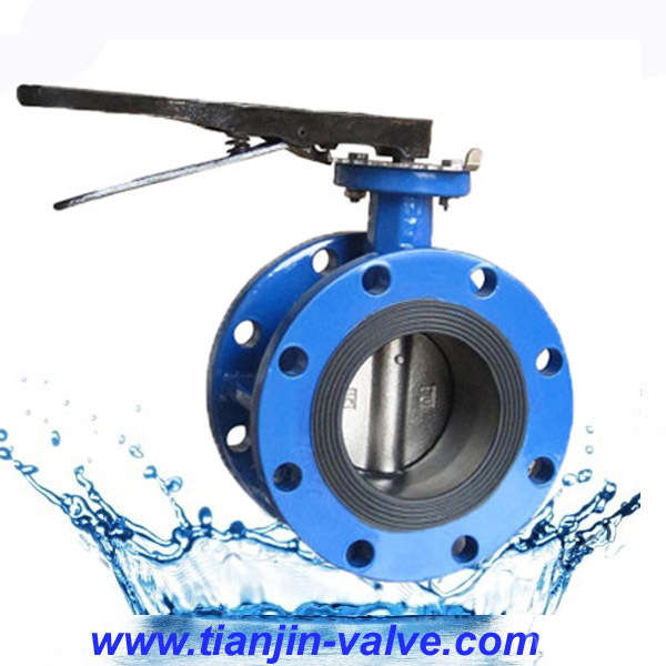 hot sell 1200mm large diameter flange connection butterfly valve
