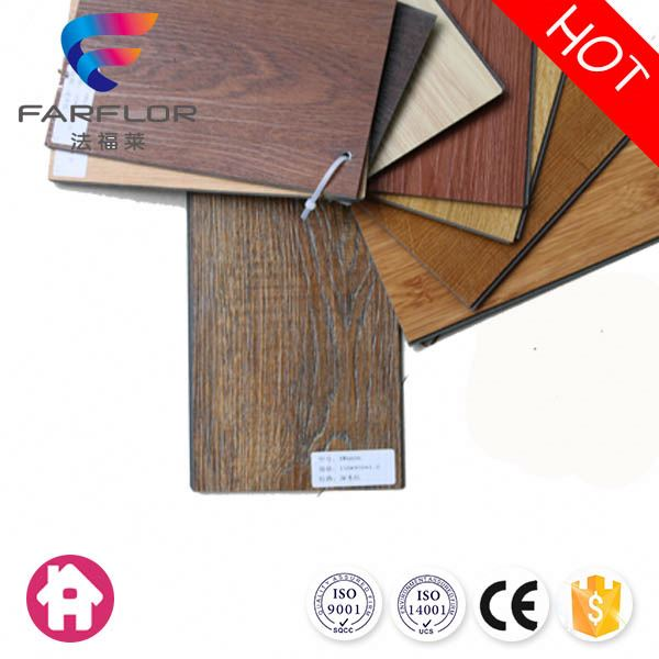 Anti-skidding health wood grain pvc plank flooring