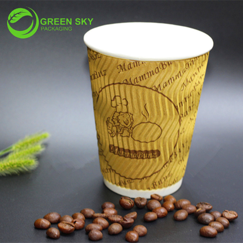 Cup Type and paper material tripple wall paper coffee cup