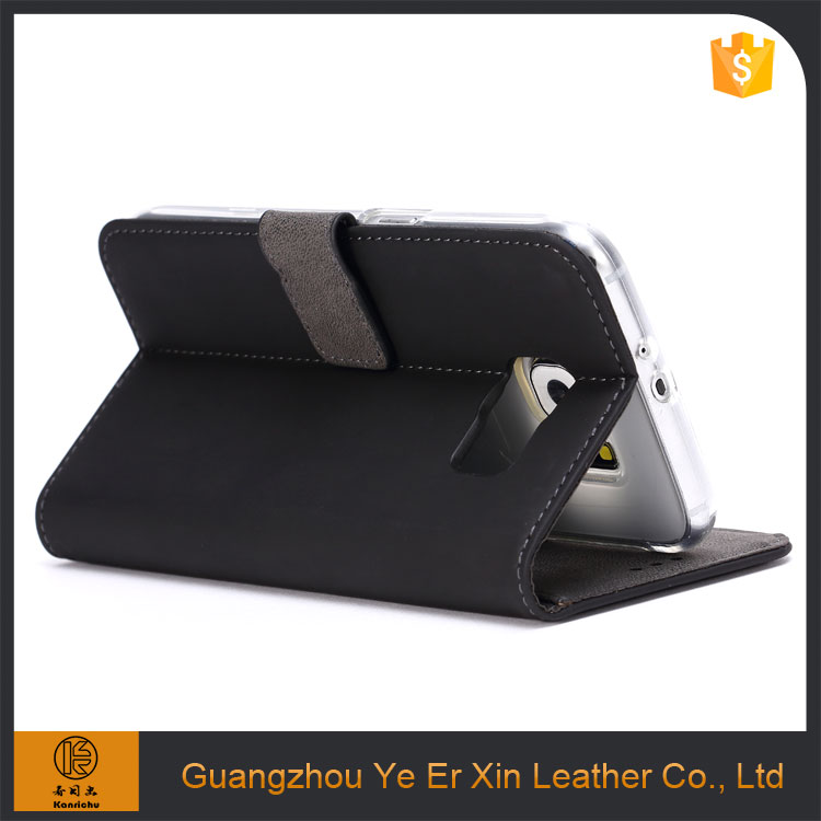 Factory price wholesale leather flip wallet cell phone accessories case for samsung s5/s6/s7
