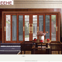 Lastest design conservatory house glass sliding aluminum doors for alibaba sale