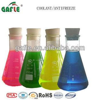 colourful red green yellow blue antifreeze