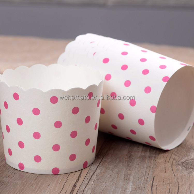 Food Grade Paper Muffin Cups Disposable Baking Cupcake Papers 25pcs/set with webake package as picture