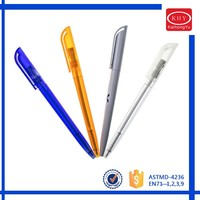 Promotional gift colored ABS barrel retractable dot pen
