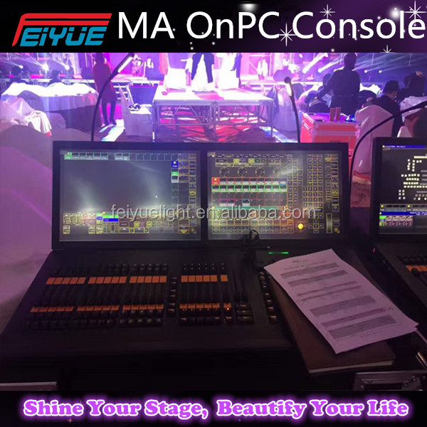 MA 2 Stage Lighting Controller DMX Console 2 Internal TFT Wide Touchscreens Midi/LTC Input Command Wing Black Hourse