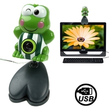 Hot selling USB 2.0 Cartoon design Green Frog Style 0.48 Mega Pixels Driverless Webcam/PC Camera