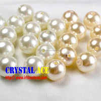 Good quality middle hole crystal pearls for wholsale