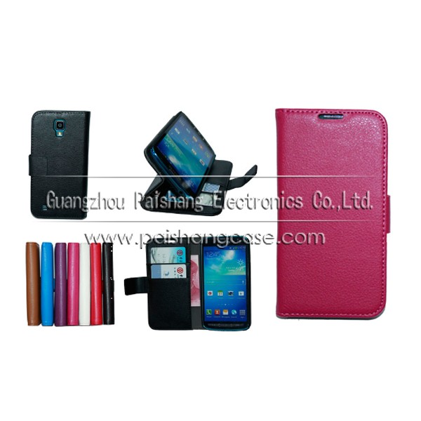 Wallet flip leather case for samsung GALAXY S4 Active i9295