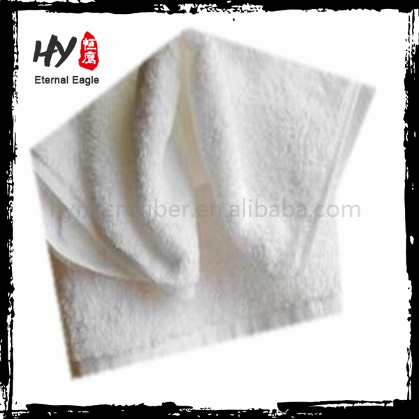 Personalized 100% cotton bath towel, 100% cotton hotel face towel, cotton absorbent white face towel