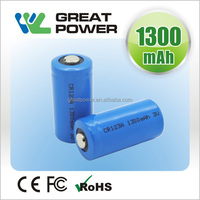 CR123A 1400mAh 3V rechargeable Lithium battery