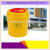 Plastic Needle Sharps Disposal Container 4L / round shape