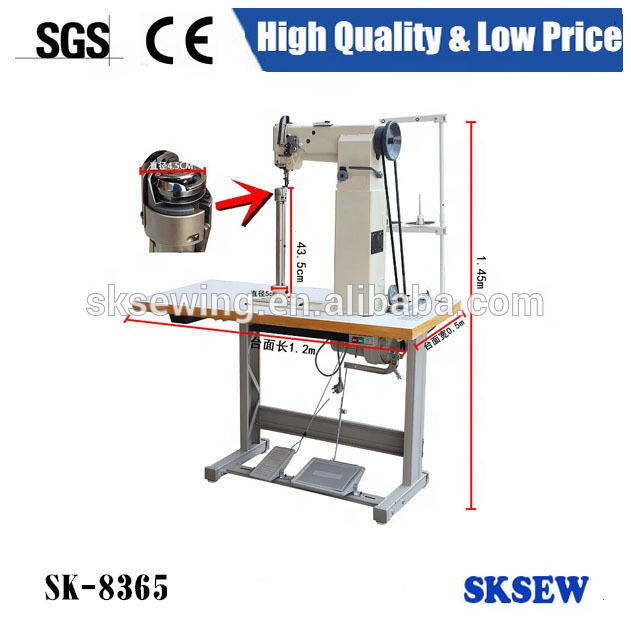 8365 single needle compound feed high postbed sewing machine