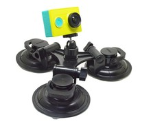 2017 Factory Plastic Suction Cup Triangle Mount +360 Degree Head For Car <strong>Gopro</strong> 1 2 3 3+ 4