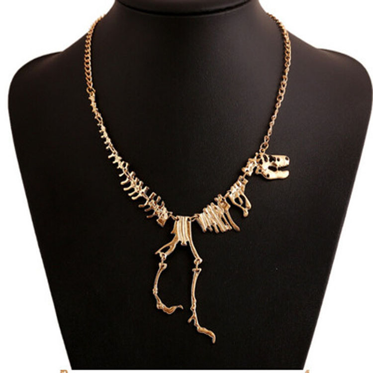 Hotsale Dinosaur Skeleton Necklace Metal Chains Necklace Oem Jewellery