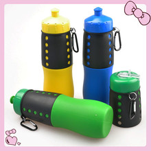 Easy Squeeze BPA Free Soft silicone Foldable Water Bottle