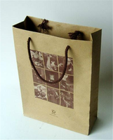 Wholesale recyclable reycled kraft paper reusable foldable shopping bags