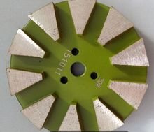 10 segments metal stone polishing pad for concrete