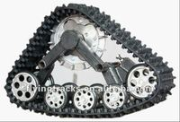 Snowmobile/excavator rubber track System