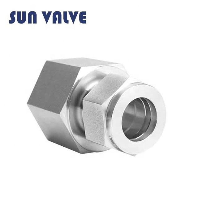 Swagelok type 1/4 NPTF x 1/4 OD Stainless steel double ferrule female connector tube <strong>fitting</strong>