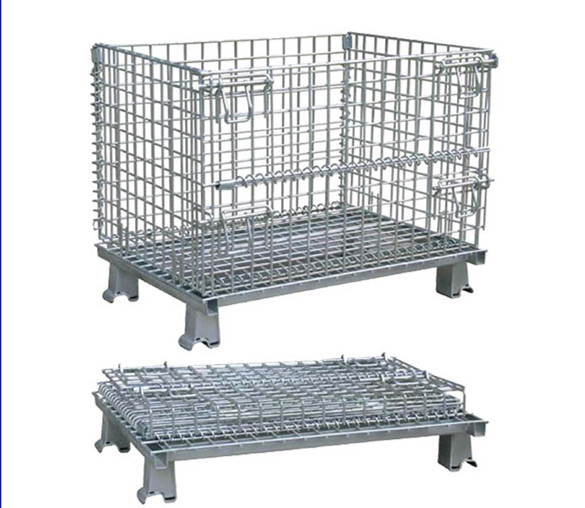 industrial collapsible wire mesh metal basket