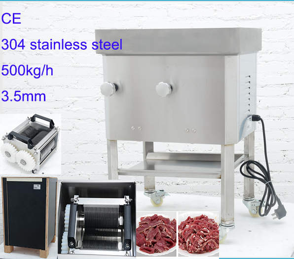 500kg/h fresh meat cutting shredding machine pork beef fresh meat dicer slicer