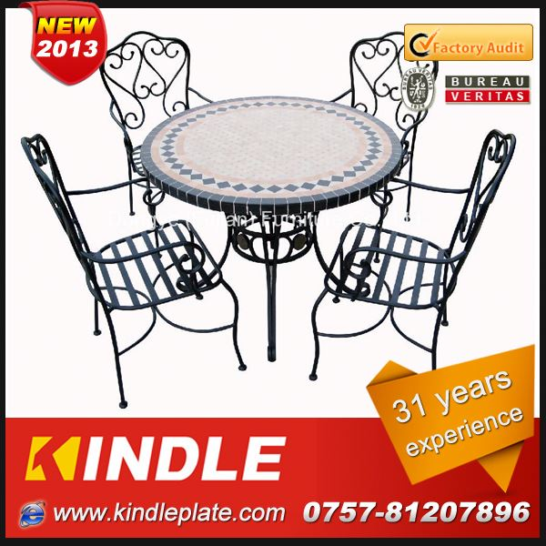 luxury small metal dining table/dining room table set for sale