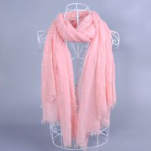 Women paris yarn tassels paillete scarf