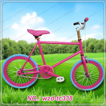 Steel Material fixed gear bicycle, gift girl 12 years
