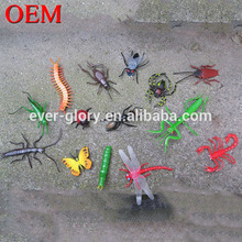 OEM 3D PVC Soft Plastic Animals Insect Toys for Pretend Play