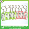 Tooth Shape Cheap Promotional Led Customized Keychain With Logo