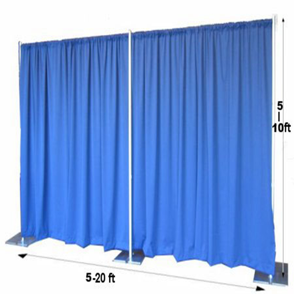 3m*6m pipe and drape for wedding backdrop drapery