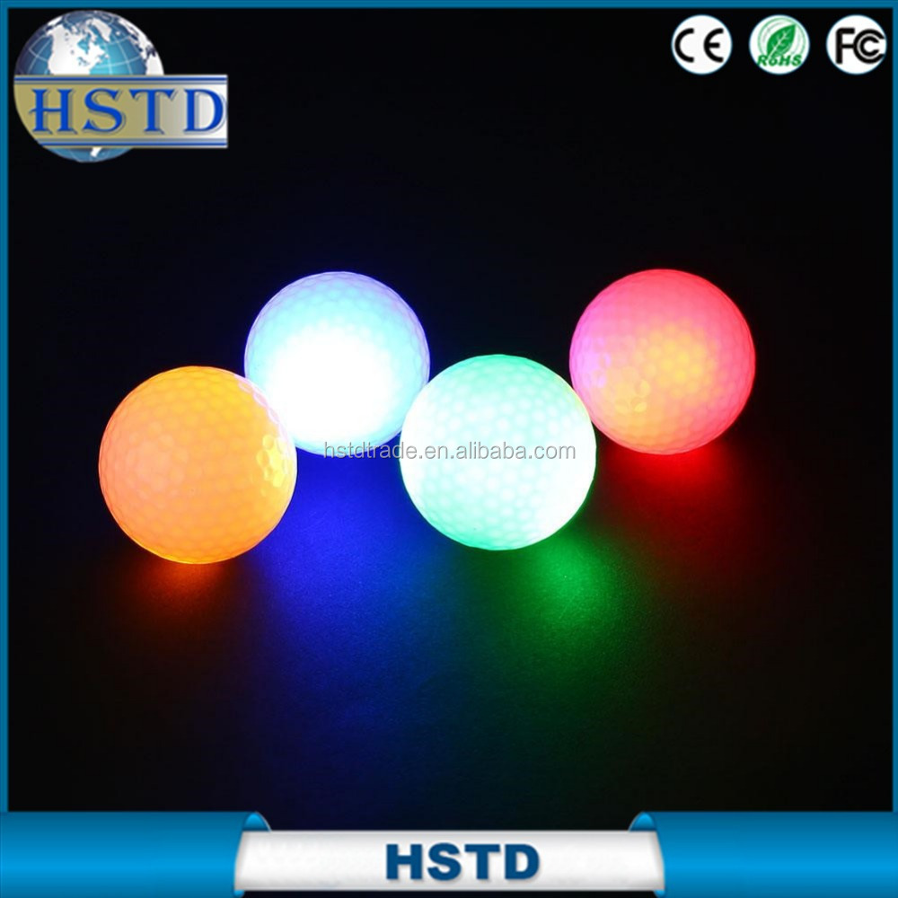 Unique Surlyn Led Flashy Golf Balls With Led Glow Night China Supplier