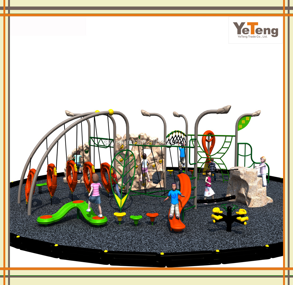 China Hot Commercial Plastic Used Outdoor Daycare Playground Equipment for Children