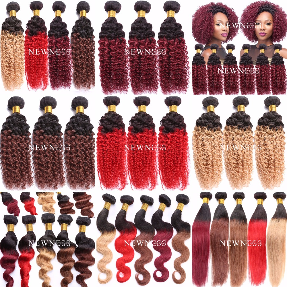 Wholesale cheap ombre hair extension bundles 100% virgin hair extension clip in human hair