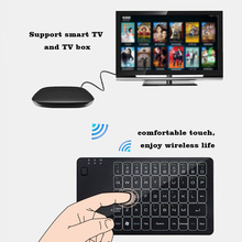 2.4Ghz Wireless Keypad ultra slim touch keyboard with mouse function