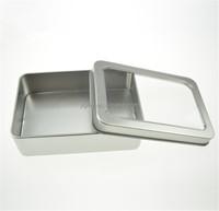 10.7*7*3cm Open Window Metal Storage Cases,display packaging can