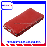 Genuine Leather Case Slim Flip Normal Series phone case for Apple iPhone 6 (Red)