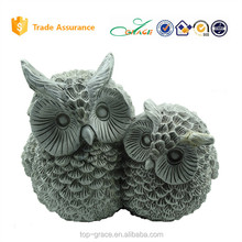 big and small owl garden animal ornament resin owl sculpture craft