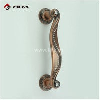 curve handling matt antique copper general usage door accessory crystal exterior pull door handles