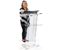 Detachable Acrylic Podium with Metal stands, Acrylic Pulpit, Acrylic Lectern
