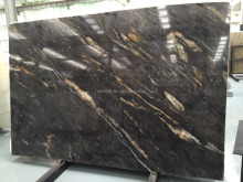 Black granite cosmic slabs