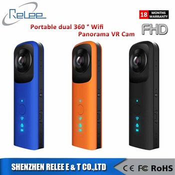 New product 360 degree fisheye panoramic camera wirelsess full HD 360 sport Action Camera V19